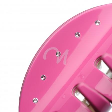 large size pink color hair jaw clip swarovski 3
