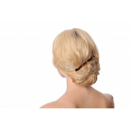 long hair barrette wearing women